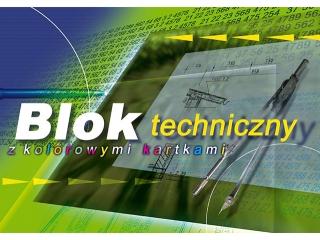 Blok techn. z kolorowymi kartkami A4-10 [opakowanie=10szt]