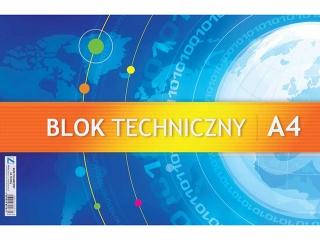 Blok techniczny A4 KRS 250g [opakowanie=10szt]