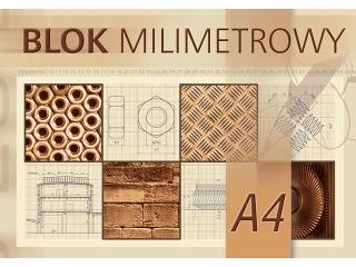 Blok milimetrowy A4-20[opakowanie=10szt]