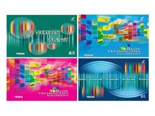Blok techniczny A4 KRES premium kolor [opakowanie=10szt]