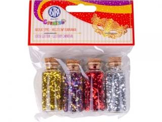 Brokat sypki 4x5g buteleczki szklane - Migotliwy karnawa³