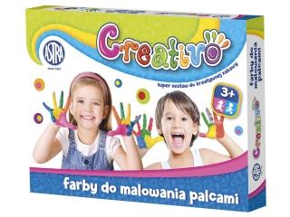 Astra Creativo - Farby do malowania palcami 4 kolory 50 ml