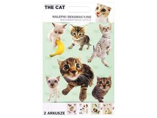 NALEPKI NA ¦CIANÊ 25x30 THE CAT [opakowanie=24szt]