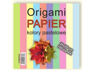 Origami papier 20x20cm. pastele
