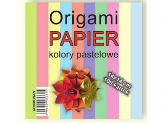 Origami papier 14x14cm. pastele