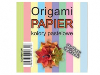 Origami papier 10x10cm. pastele