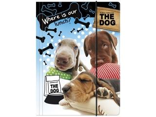TECZKA Z GUMK¡ A4 THE DOG [opakowanie=10szt]